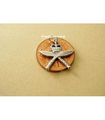 Gurkha Brigade Sterling Silver Charm or Pendant