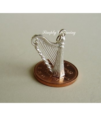 Harp Sterling Silver Charm