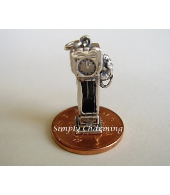 Hickory Dickory Dock Moving Sterling Silver Charm