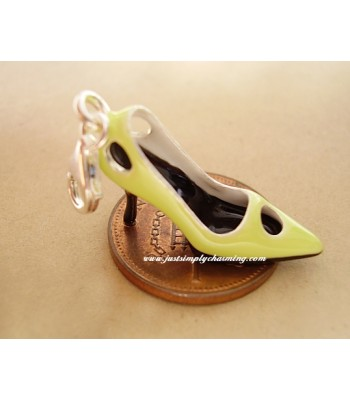 Enamelled Sterling Silver High Heeled Shoe Clip-On Charm