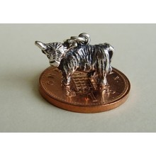 Scottish Highland Cow Sterling Silver Charm