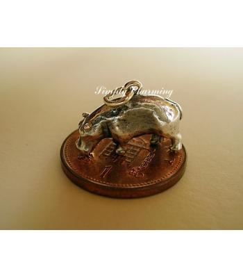 Sterling Silver Hippo Cufflinks