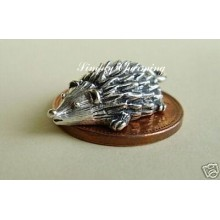 Hedgehog Sterling Silver Charm