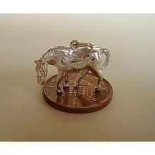 Grazing Horse Sterling Silver Charm