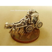 Sterling Silver Horse and Carriage Charm