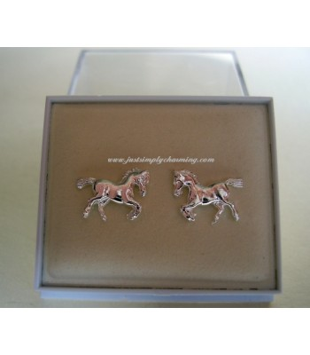 Sterling Silver Horse Stud Earrings