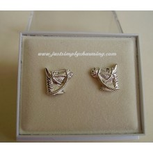Sterling Silver Horses Head Stud Earrings