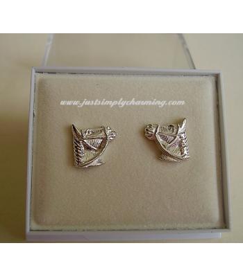Sterling Silver Horses Head Stud Earrings