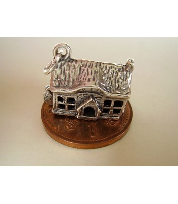 Country House Opening Sterling Silver Charm