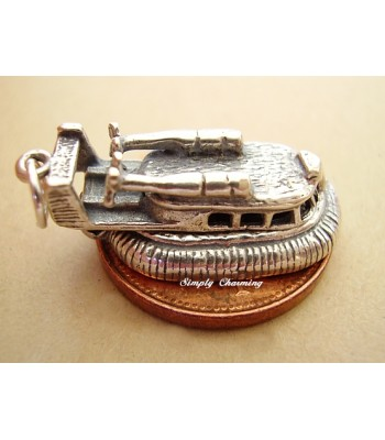 Hovercraft Opening Sterling Silver Charm