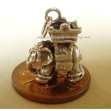 Elephant With Howdah Sterling Silver Charm