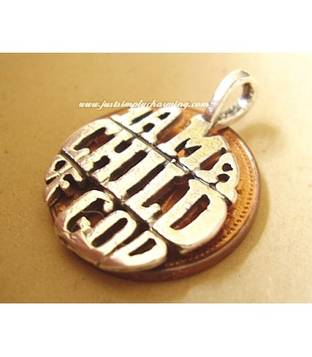 I Am A Child Of God Sterling Silver Pendant