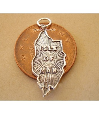 Isle of Man Map Sterling Silver Charm