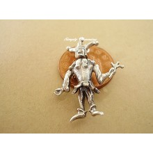 Court jester Sterling Silver Charm