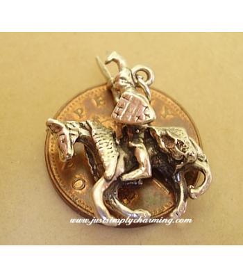Knight on Horseback Sterling Silver Charm
