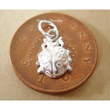 Miniature Ladybird Silver Charm