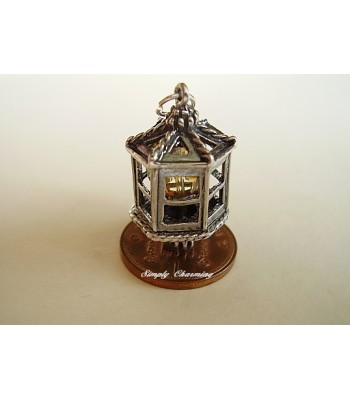 Crystal Lantern Sterling Silver Charm