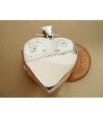 Hand-Made Sterling Silver Heart locket