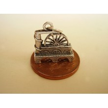 Isle of Man Laxey wheel Sterling Silver Charm