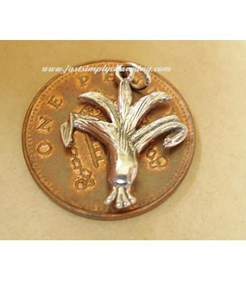 Sterling Silver Leek Charm