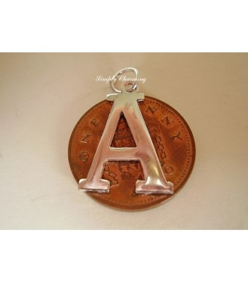 Letter A Sterling Silver Charm