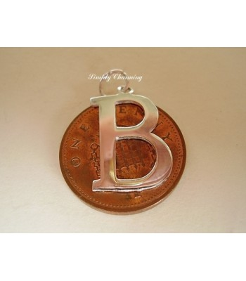 Letter B Sterling Silver Charm