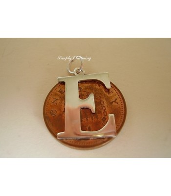 Letter E Sterling Silver Charm