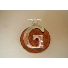 Letter G Sterling Silver Charm