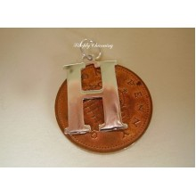 Letter H Sterling Silver Charm