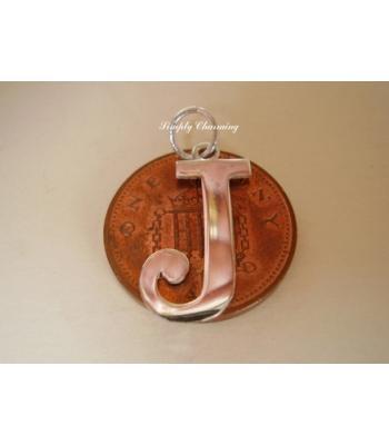 Letter J Sterling Silver Charm