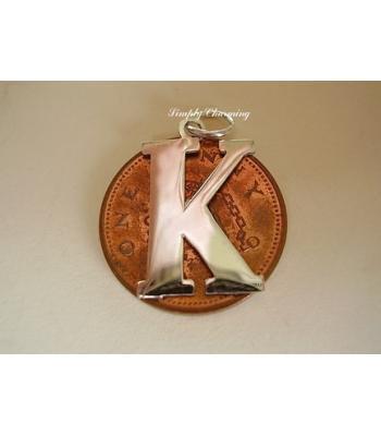 Letter K Sterling Silver Charm