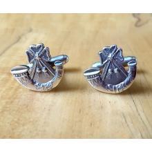British Army Light Infantry Sterling Silver Cufflinks