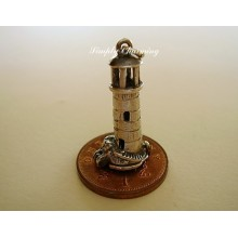 Lighthouse Opening Sterling Silver Charm
