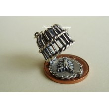Lobster Pot Opening Sterling Silver Charm