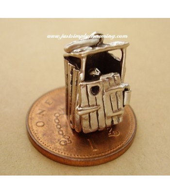 Outdoor Toilet Loo Opening Sterling Silver Charms