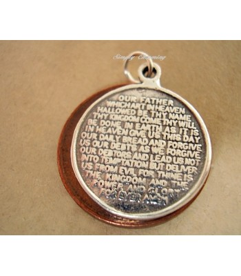 Lords Prayer Traditional English Version Sterling Silver Charm