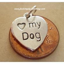 Love My Dog Sterling Silver Charm