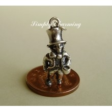 Mad Hatter Sterling Silver Charm