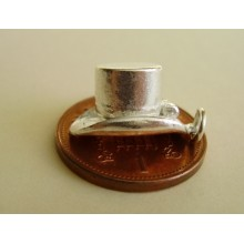 Magicians Hat Opening Sterling Silver Charm