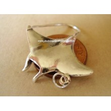 Manta Ray Sterling Silver Charm or Pendant