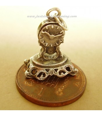 Mantle Clock Sterling Silver Charm