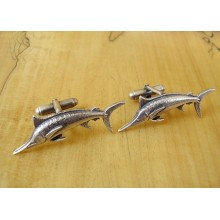 Sterling Silver Fishing Marlin Cufflinks