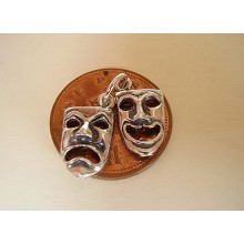 Comedy & Tradegy Theatre Masks Sterling Silver Charm