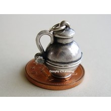 Milk Churn Opening Sterling Silver Charm