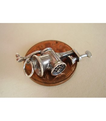 Hand Mincer Moving Sterling Silver Charm