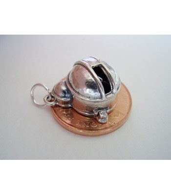 Space Observatory With Telescope Sterling Silver Charm