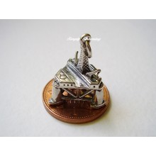 Oil Rig Sterling Silver Charm