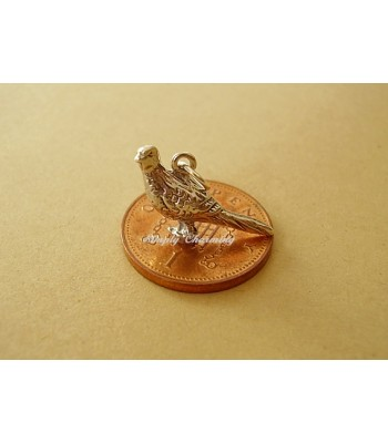 Pheasant Sterling Silver Charm
