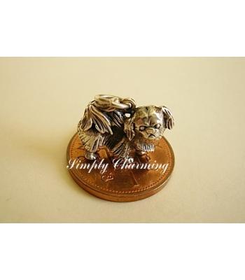 Pekingnese Sterling Silver Charm
