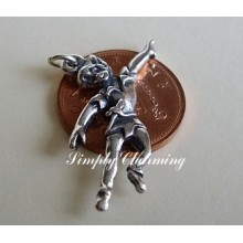 Peter Pan Sterling Silver Charm